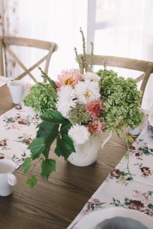 kwiaty, hortensje, astry, lato, wesele, ślub, babie lato